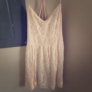 Babydoll Soft Pink and Cream Lace Dress